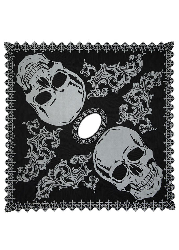 Heritage Lace Hawthorne Gardens Skull Poncho