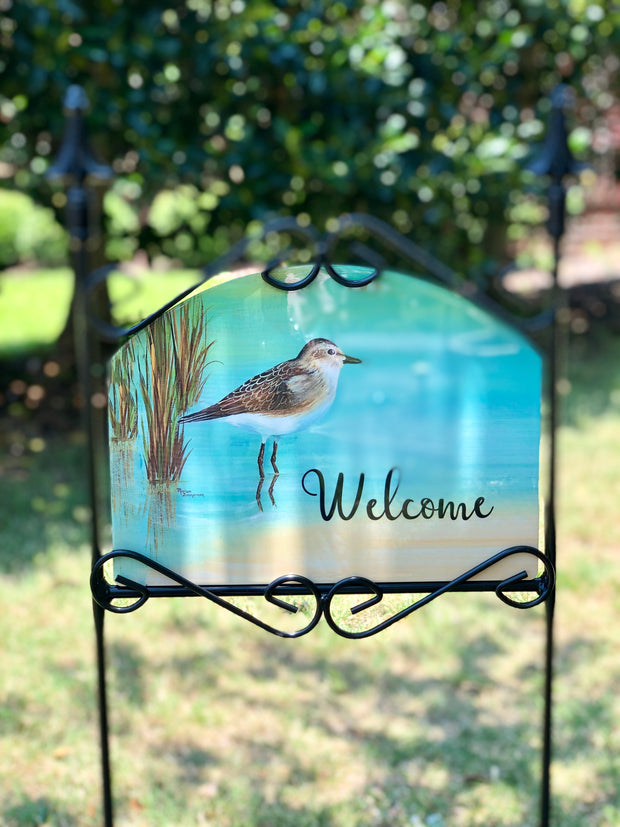 Heritage Gallery Sandpiper Welcome Garden Sign