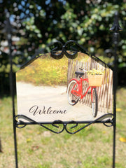 Heritage Gallery Summer Bicycle Garden Sign