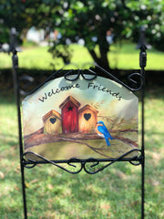 Heritage Gallery Tree Birdhouse Garden Sign