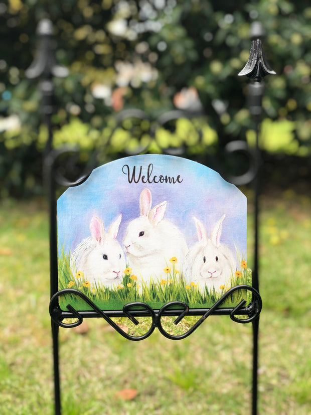 Heritage Gallery Triple Rabbits Garden Sign