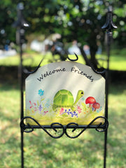Heritage Gallery Turtle Happy Garden Sign