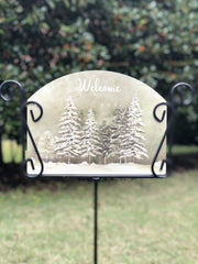 Heritage Gallery Winter Forest Garden Sign