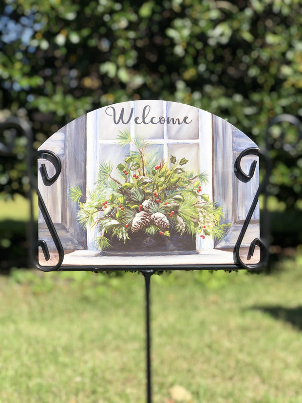 Heritage Gallery Winter Window Garden Sign