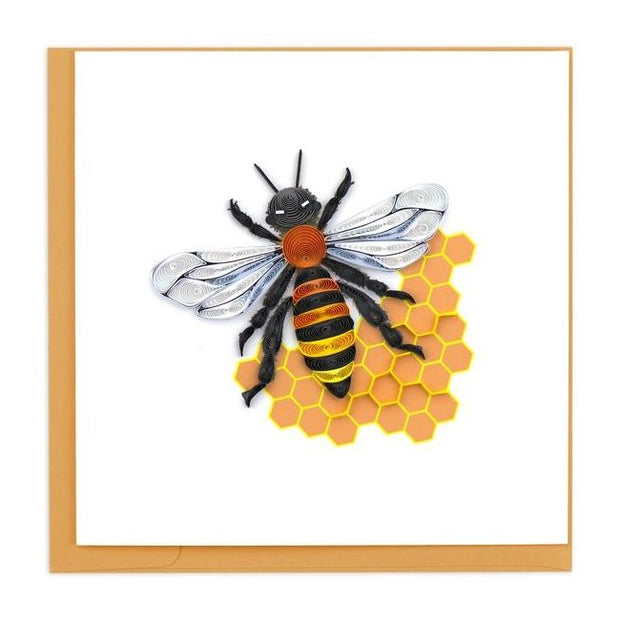 Honey Bee Quilling Card
