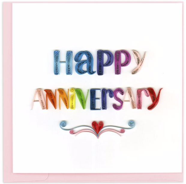 Happy Anniversary Quilling Card