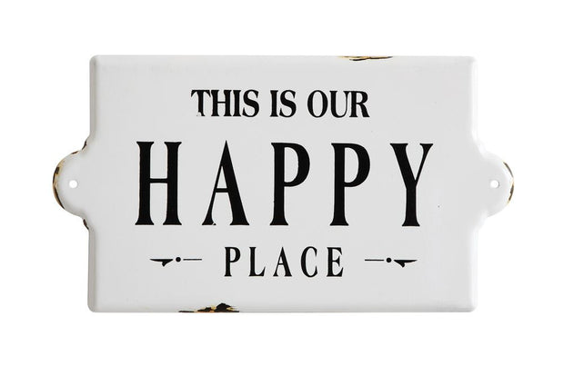 Happy Place Metal Sign