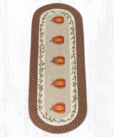Capitol Earth Rugs Harvest Pumpkin Oval Patch Rug, 2' x 6'