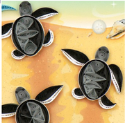 Sea Turtle Hatchlings Quilling Card
