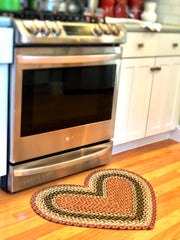 Capitol Earth Rugs Heart-Shaped Jute Rug