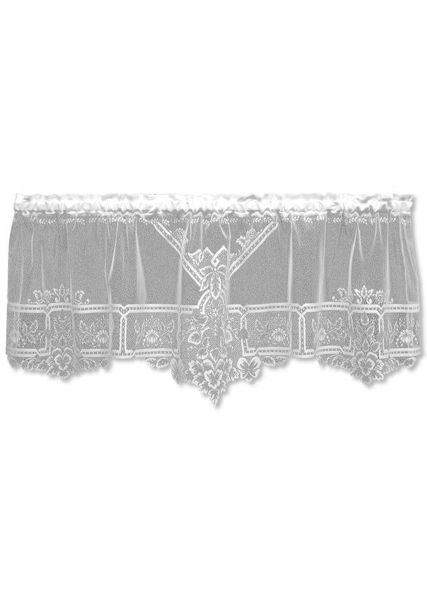 Heritage Lace Heirloom Sheer Valance, White