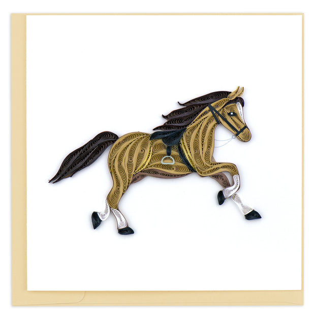Horse Quilling Card