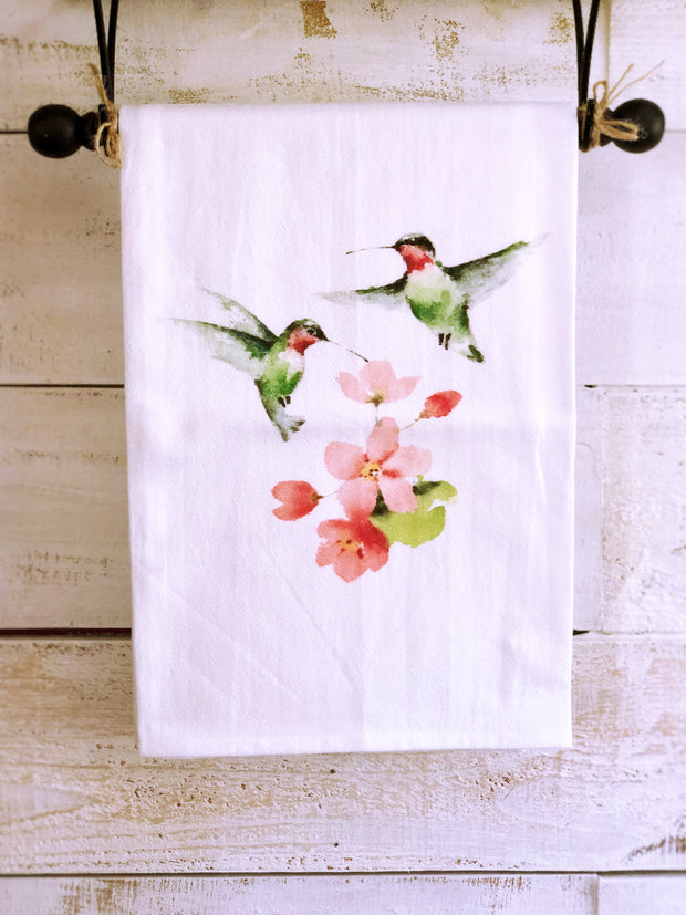 Southern Sisters Two Hummingbirds Gourmet Flour Sack Tea Towel