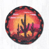 "Capitol Earth Rugs Individual Printed Braided Jute 5"" Coaster, Desert Sunset"