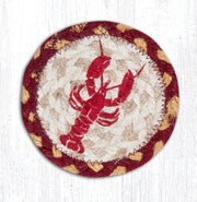 "Capitol Earth Rugs Individual Printed Braided Jute 5"" Coaster, Lobster"
