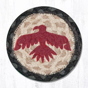 "Capitol Earth Rugs Individual Printed Braided Jute 5"" Coaster, Thunderbird"