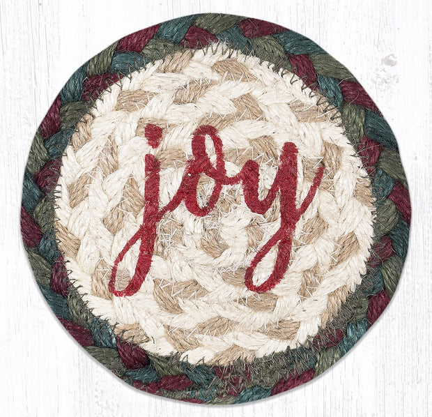 Fall/Winter Seasonal Collection, Individual Jute Coasters - MORE DESIGNS & SIZES