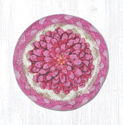 "Capitol Earth Rugs Individual Printed Braided Jute 5"" Coaster, Boho Flower"