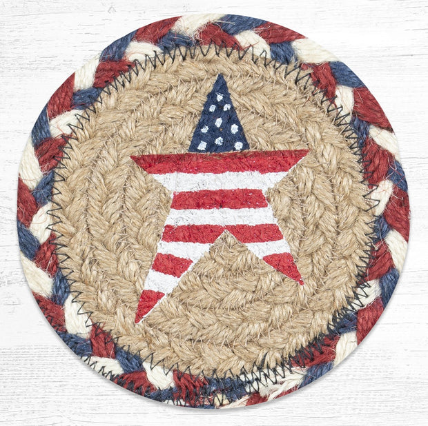 Star Collection, Individual Jute Coasters - CLICK FOR MORE DESIGNS & SIZES