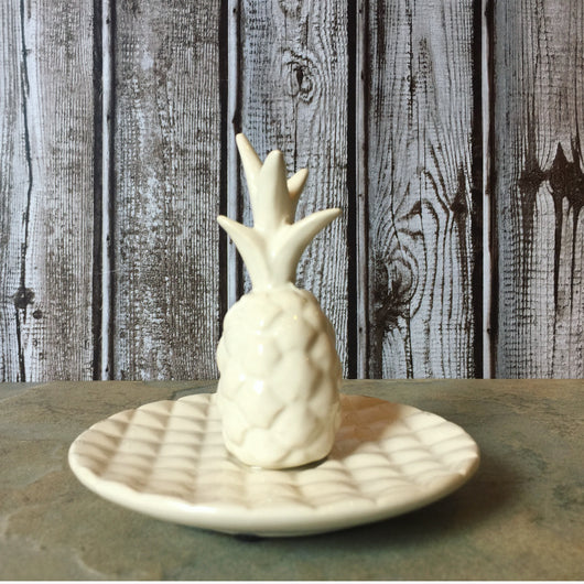 Creative Coop Pineapple Stoneware Ring Holder