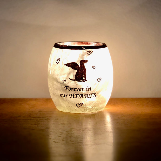 Stony Creek Beloved Dog Pre-Lit Glass Votive