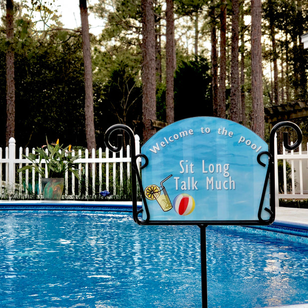 Heritage Gallery Poolside Lemonade Garden Sign