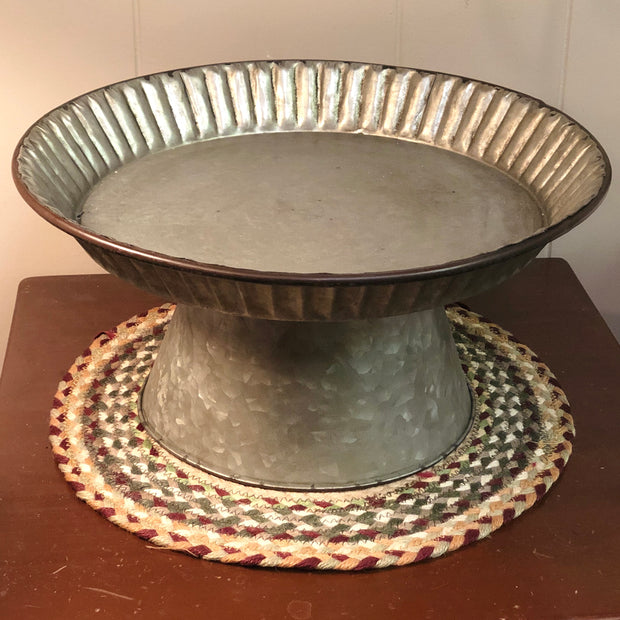 "Ragon House Galvanized Metal Compote Stand, 16.5"" x 8.5"""