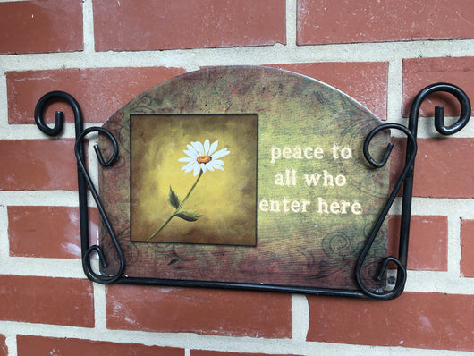 peace to all who enter here Garden Sign, Heritage Gallery