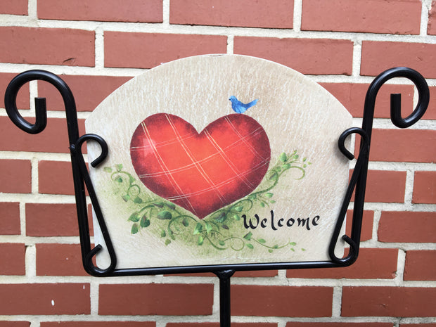 Blubird Heart Garden Sign, Heritage Gallery