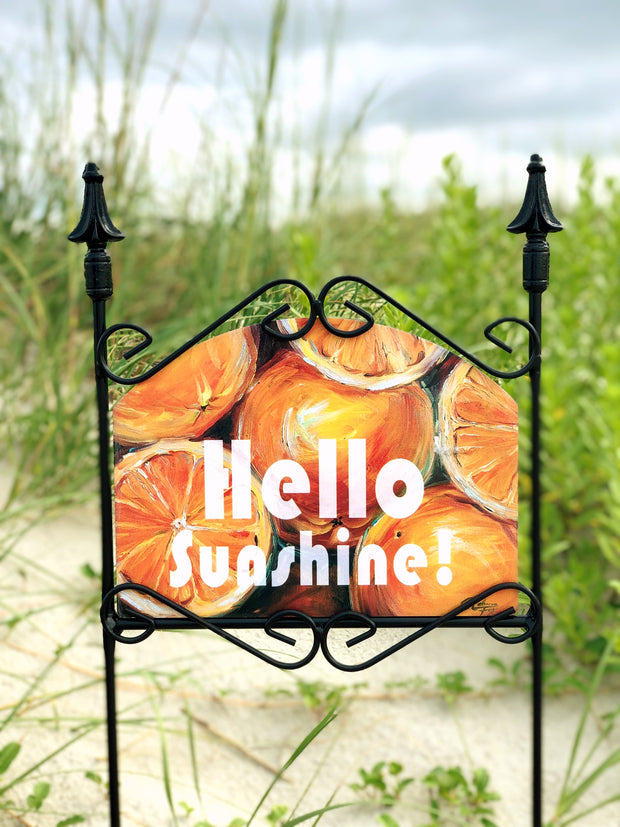 Heritage Gallery Hello Sunshine Garden Sign