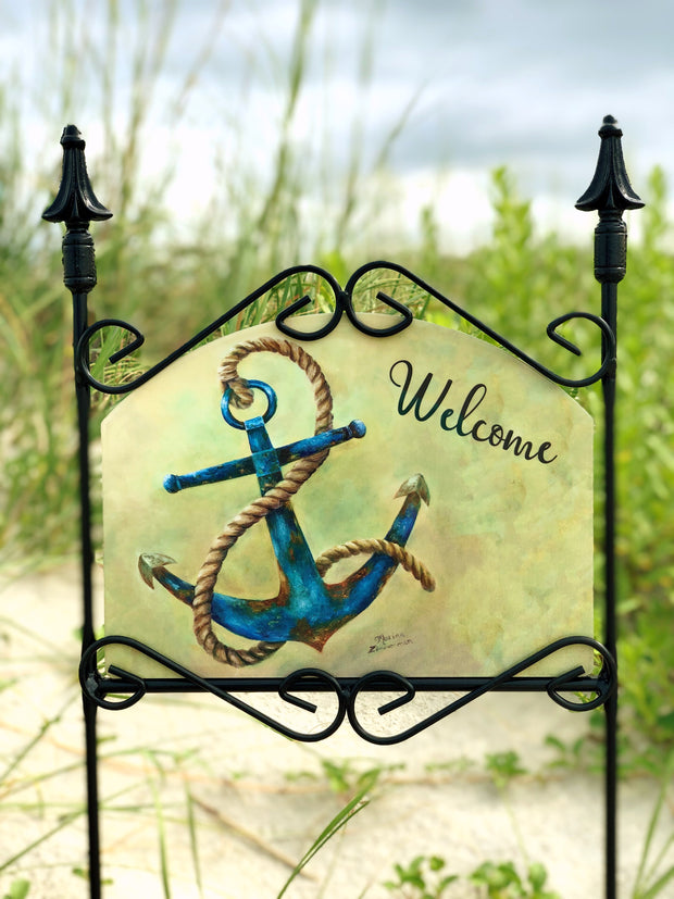 Heritage Gallery Anchor Welcome Garden Sign