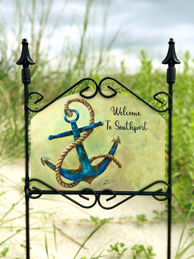 Heritage Gallery Anchor Welcome to Southport Garden Sign