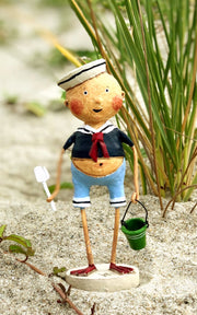 Sailor Boy with Navy Shirt  by Lori Mitchell