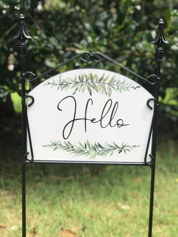 """Caleb"" Hello Garden Sign"