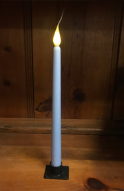 "*Battery-Operated 11"" LED Dipped Taper Candle with Timer"