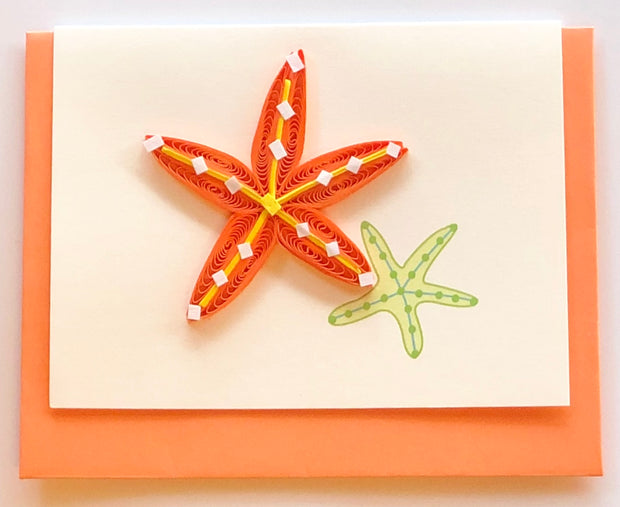 Starfish Quilling Card Gift Enclosure