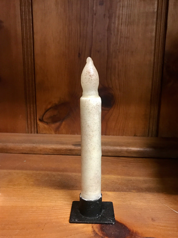 "*Battery-Operated 6"" LED Dipped Taper Candle with Timer"