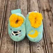 Simply Pairables Snoozies Slippers for Baby, Cow & Moon