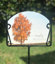 Orange Tree Garden Sign