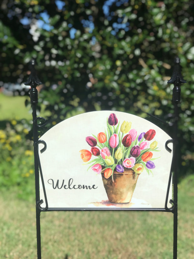Tulip Pot Garden Sign