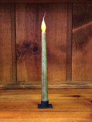 "Barn Cat Mercantile 11"" LED Battery Operated Timer Taper Candle, Hunter Green"