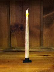 "Barn Cat Mercantile 11"" LED Battery Operated Timer Taper Candle, Buttermilk with Cinnamon"