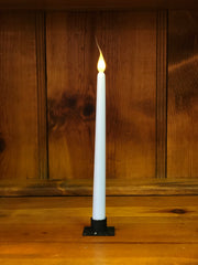 "Barn Cat Mercantile 11"" LED Battery Operated Timer Taper Candle, Light Blue"