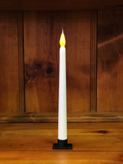 "Barn Cat Mercantile 11"" LED Battery Operated Timer Taper Candle, Buttermilk"