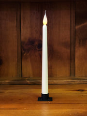 "Barn Cat Mercantile 11"" LED Battery Operated Timer Taper Candle, White"