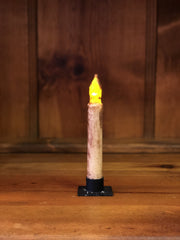 "Barn Cat Mercantile 6"" LED Battery Operated Timer Taper Candle, Buttermilk with Cinnamon"