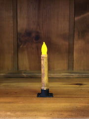 "Barn Cat Mercantile 6"" LED Battery Operated Timer Taper Candle, Mustard"