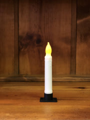"Barn Cat Mercantile 6"" LED Battery Operated Timer Taper Candle, White"