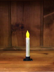 "Barn Cat Mercantile 6"" LED Battery Operated Timer Taper Candle, Sage Green"