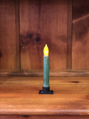 "Barn Cat Mercantile 6"" LED Battery Operated Timer Taper Candle, Hunter Green"